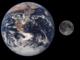القمر والارض