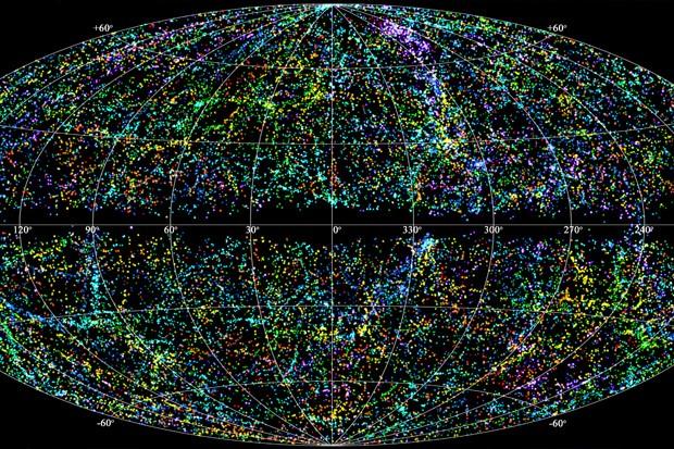 خارطة ثلاثية الابعاد للكون