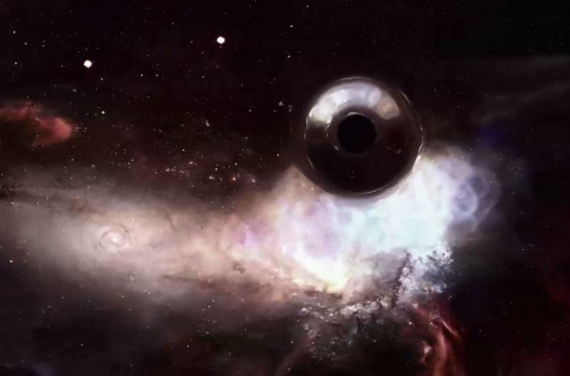 صورة مٌحاكاة للثقب الأسود
