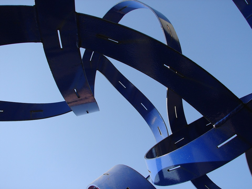 Azure Abstract Sculpture Blue Design Futuristic