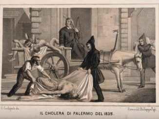 لوحة تعبر عن الكوليرا في مدينة باليرمو