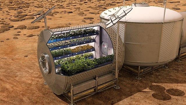 الزراعة على المريخ